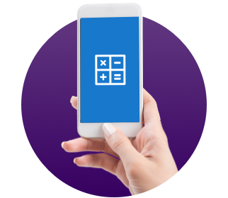 Calculator on Mobile Phone